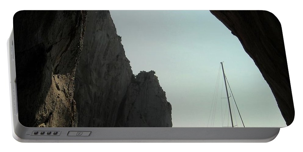 Amalfi Coast Portable Battery Charger featuring the photograph Rock Canopy by Lisa Kilby