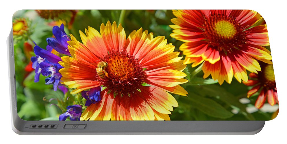 Garden Portable Battery Charger featuring the photograph Nature's Friends by Lynn Bauer