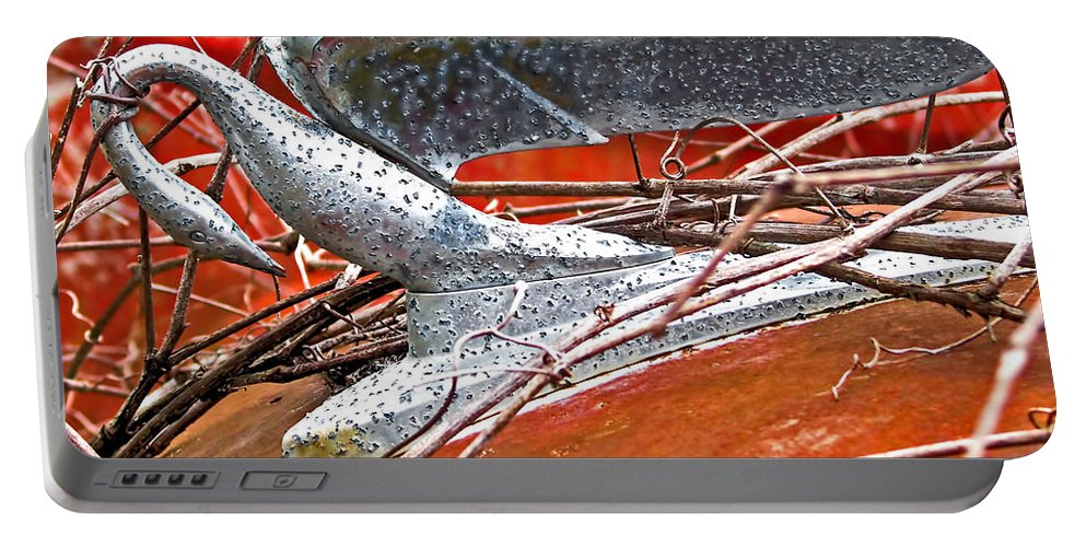 Hood Ornament Portable Battery Charger featuring the photograph Natures Noose by Deb Buchanan