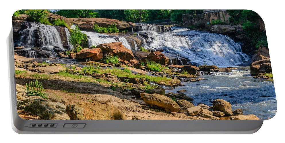 Trees Portable Battery Charger featuring the photograph Nature's Rush by Elvis Vaughn