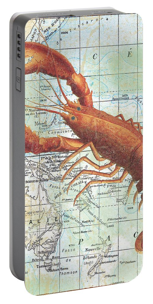 Vintage Portable Battery Charger featuring the digital art Nautical Journey-i by Jean Plout