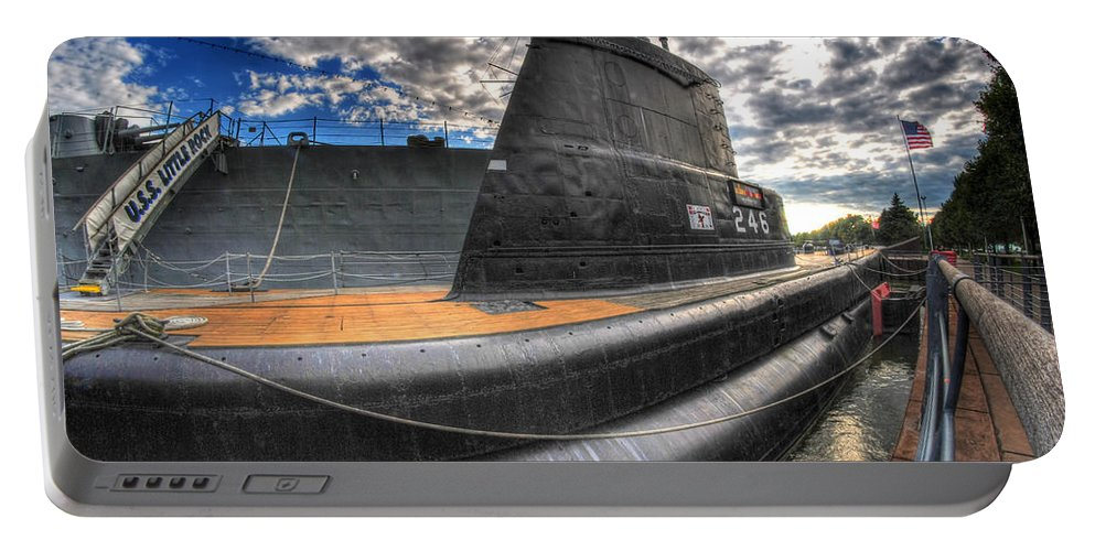 Naval Base Portable Battery Charger featuring the photograph Naval Base At Erie Basin Marina by Michael Frank Jr