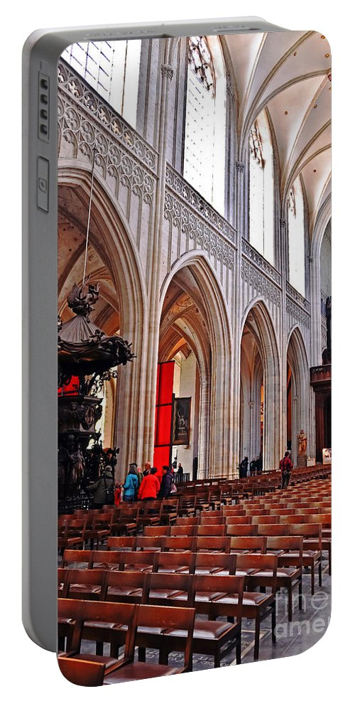 Travel Portable Battery Charger featuring the photograph Nave Of The Church Of Our Lady by Elvis Vaughn
