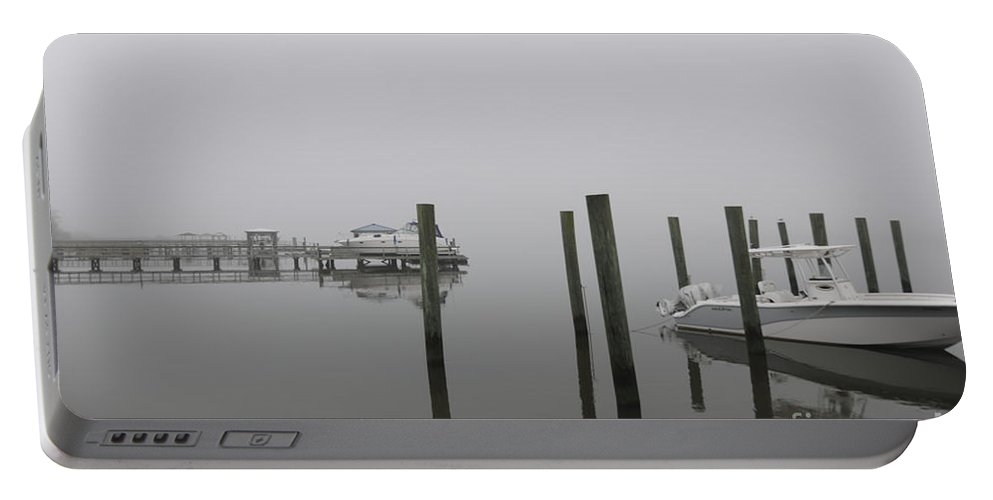 Fog Portable Battery Charger featuring the photograph Navigating In The Fog by Dale Powell