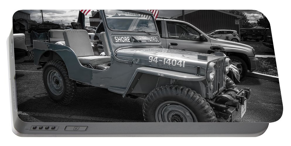 Navy Jeep Portable Battery Charger featuring the photograph Navy Jeep by David B Kawchak Custom Classic Photography
