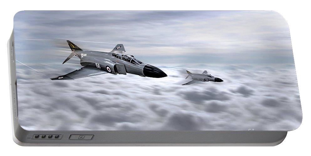 Phantom Fg1 Portable Battery Charger featuring the digital art Navy Phantoms by J Biggadike