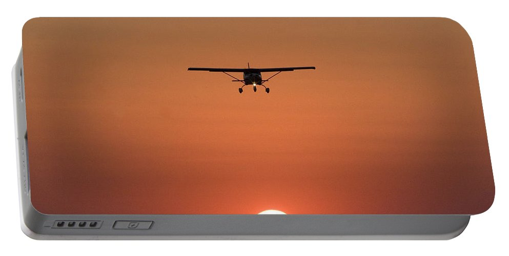 Jabiru Portable Battery Charger featuring the photograph Nc Sunset by Paul Job
