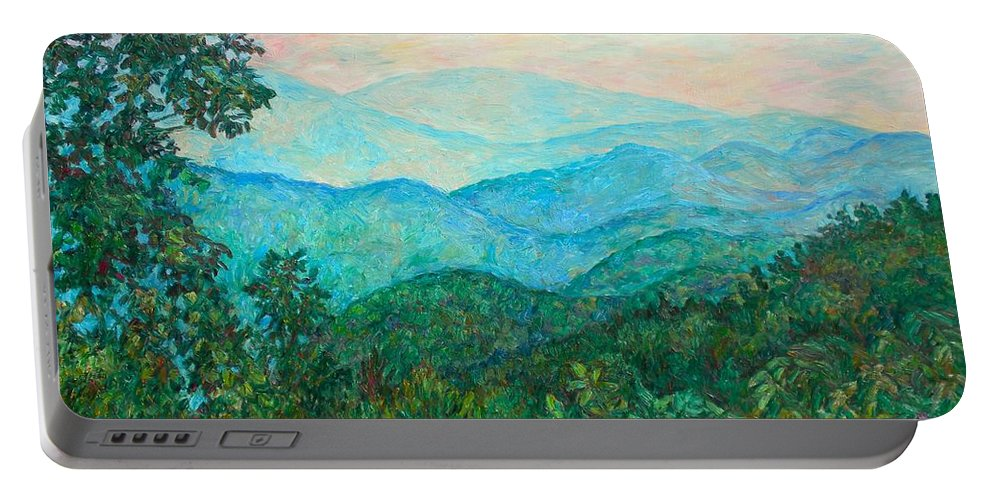 Landscape Portable Battery Charger featuring the painting Near Purgatory by Kendall Kessler