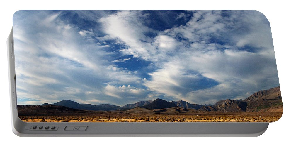 Mountains Portable Battery Charger featuring the photograph Near The Intersection Of God And The Eastern Sierras by Joe Schofield