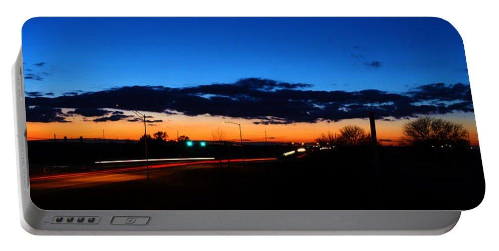Nebraska Portable Battery Charger featuring the photograph Nebraska Highway Sunset by Gary Mosman