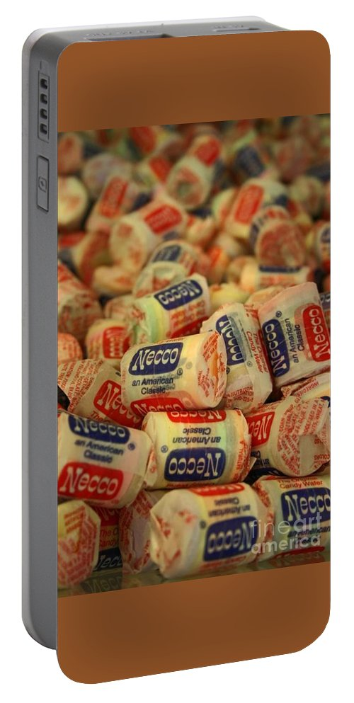 Necco Wafers Portable Battery Charger featuring the photograph Necco Wafers by Beth Ferris Sale