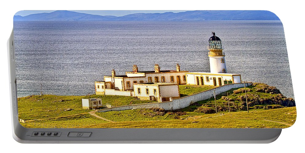 Landscape Portable Battery Charger featuring the photograph Neist Point Lighthouse Isle Of Skye by Marcia Colelli
