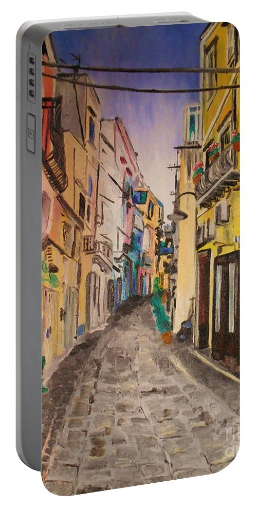 Italy Portable Battery Charger featuring the painting Nel Primo Pomereggio by Kevin J Cooper Artwork