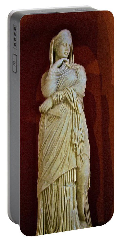 Nemesis In Antalya Archeological Museum Portable Battery Charger featuring the photograph Nemesis In Antalya Archeological Museum-turkey by Ruth Hager
