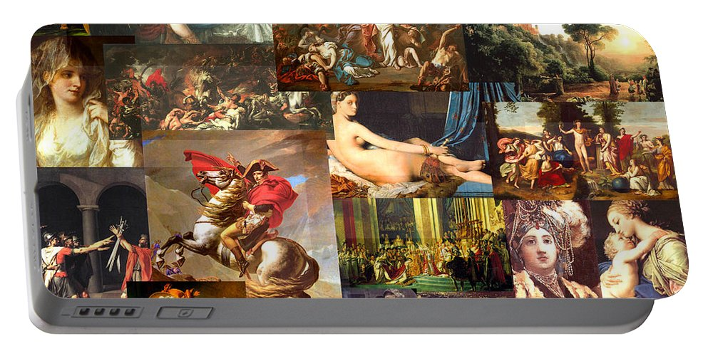 Art Portable Battery Charger featuring the mixed media Neo-classicism 1750 To 1830 by Anders Hingel