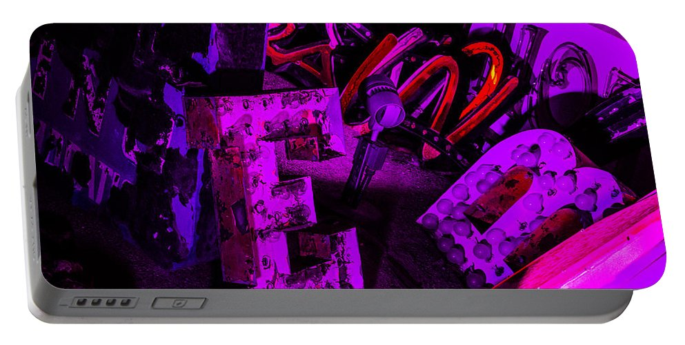 Las Vegas Portable Battery Charger featuring the photograph Neon 3 by Angus Hooper Iii