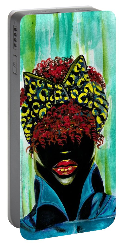 Black Portable Battery Charger featuring the photograph Neon by Artist RiA
