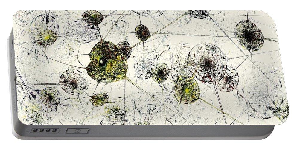 Malakhova Portable Battery Charger featuring the digital art Neural Network by Anastasiya Malakhova