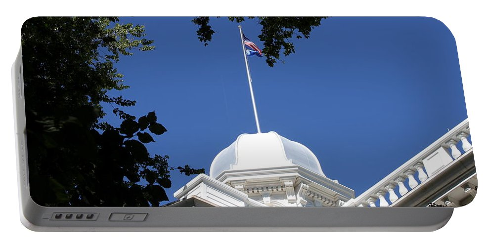 Nevada Portable Battery Charger featuring the photograph Nevada State Capitol by Donna Jackson