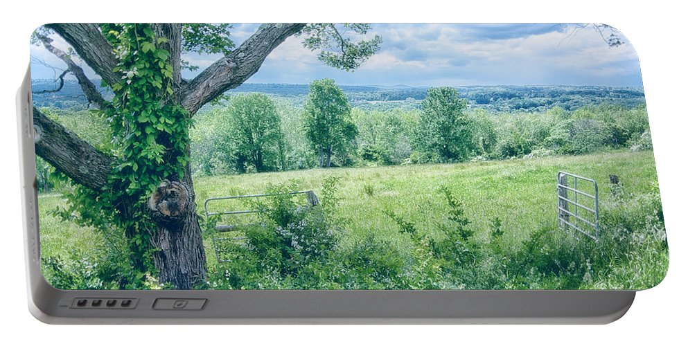 Landscape Portable Battery Charger featuring the photograph Never Ending Fields by Karol Livote