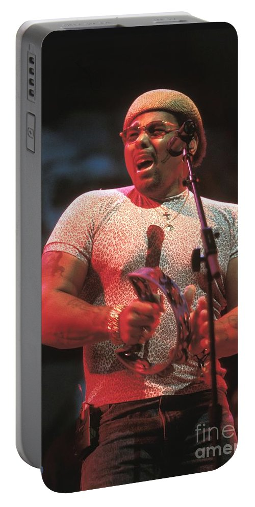Hat Portable Battery Charger featuring the photograph Neville Brothers by Concert Photos