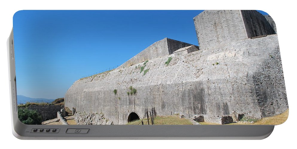 Corfu Portable Battery Charger featuring the photograph New Fort Corfu 1 by George Katechis