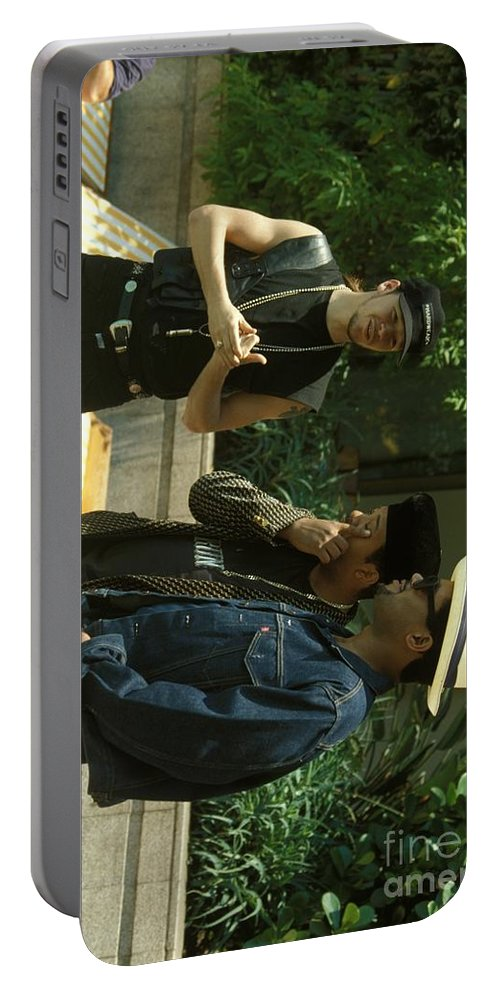 Donnie Wahlberg Portable Battery Charger featuring the photograph New Kids On The Block by Concert Photos