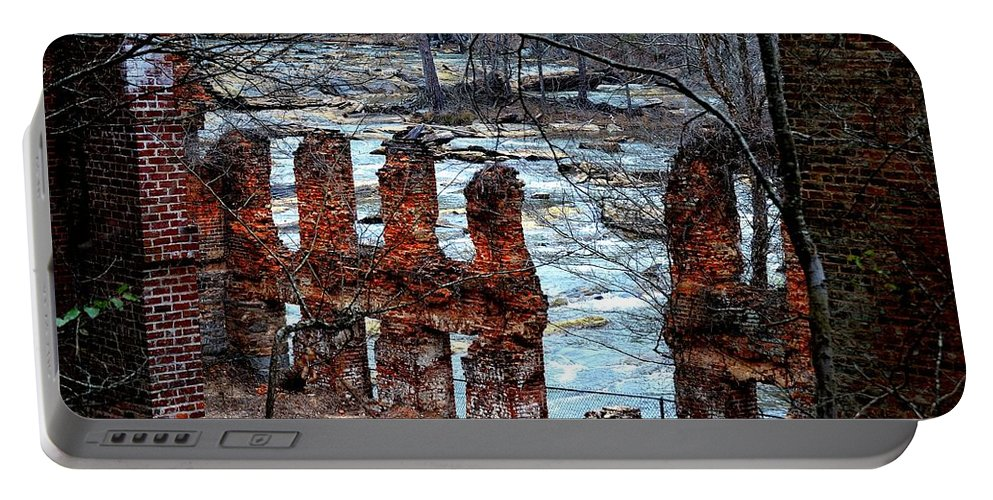 Sweetwater Creek State Park Portable Battery Charger featuring the photograph New Manchester Manufacturing Company Ruins by Tara Potts