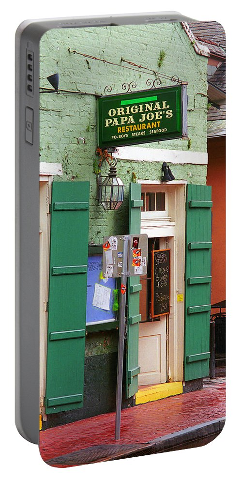 America Portable Battery Charger featuring the photograph New Orleans - Bourbon Street 4 by Frank Romeo