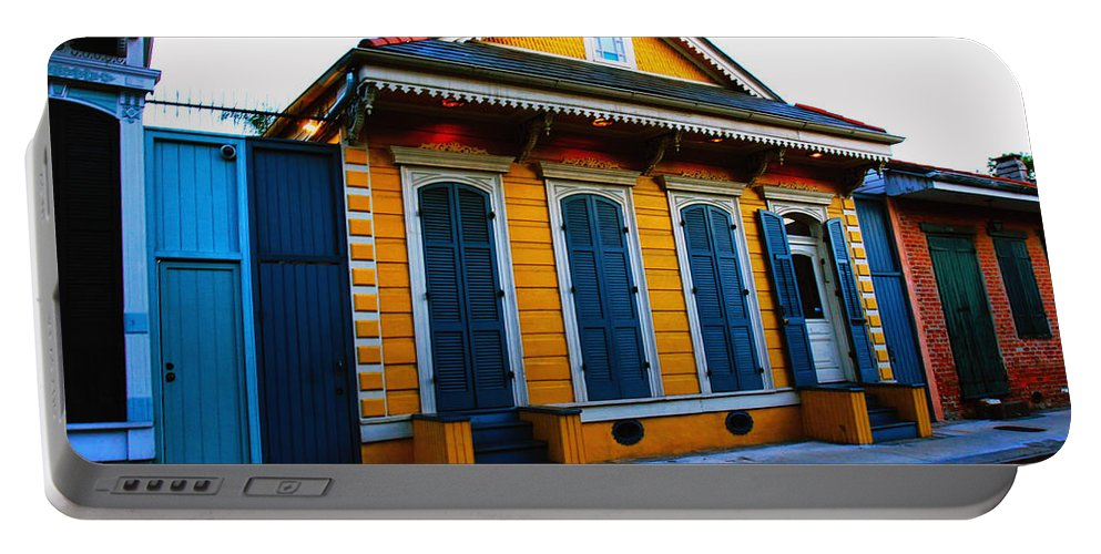 New Orleans Portable Battery Charger featuring the photograph New Orleans Creole Cottage by Ryan Burton