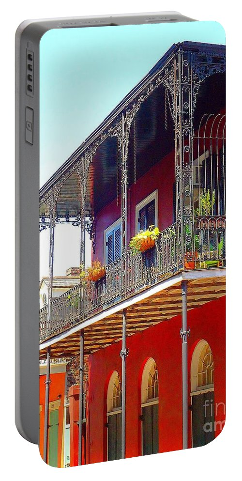New Orleans Portable Battery Charger featuring the photograph New Orleans French Quarter Architecture 2 by Saundra Myles