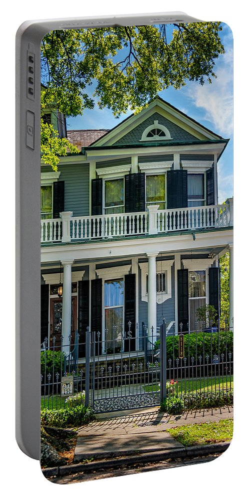 Home Portable Battery Charger featuring the photograph New Orleans Home 6 by Steve Harrington