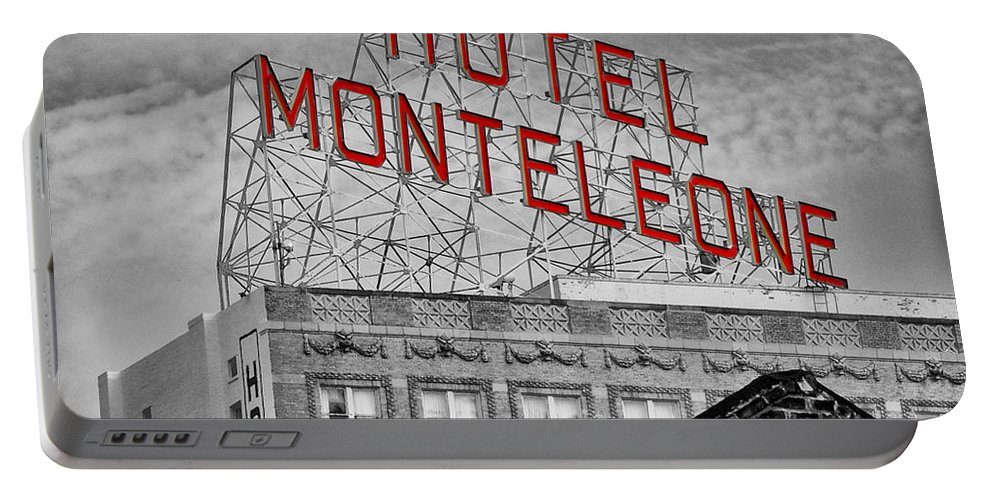 New Portable Battery Charger featuring the photograph New Orleans - Hotel Monteleone by Bill Cannon