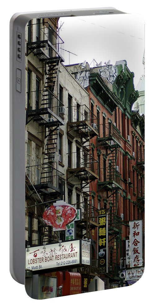 Chinese Portable Battery Charger featuring the photograph Chinatown Nyc by Toula Mavridou-Messer