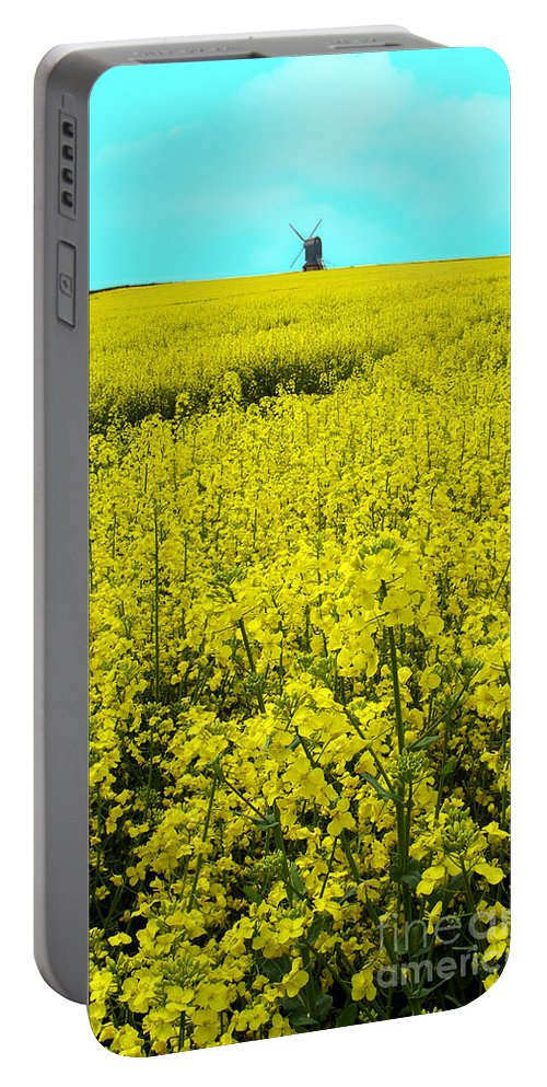 Nature Portable Battery Charger featuring the photograph New Photographic Art Print For Sale Yellow English Fields 4 by Toula Mavridou-Messer
