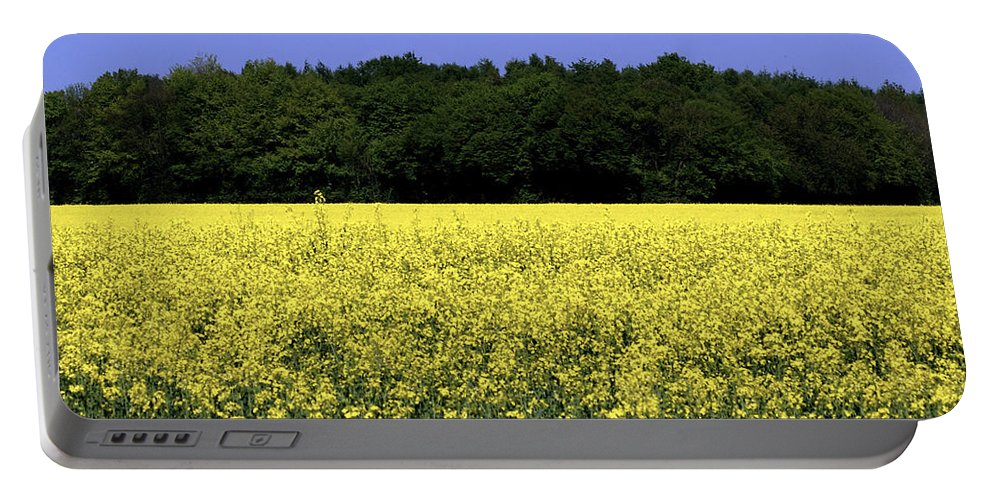 Nature Portable Battery Charger featuring the photograph New Photographic Art Print For Sale Yellow English Fields by Toula Mavridou-Messer