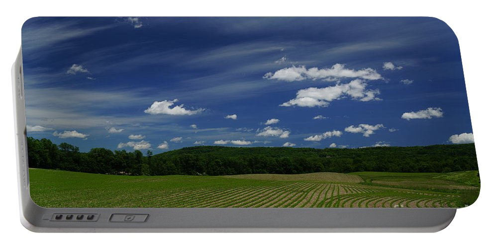 Landscape Portable Battery Charger featuring the photograph New Seedlings by Jeffery L Bowers