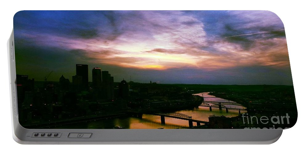 Cityscape Portable Battery Charger featuring the photograph New Slate by Charlie Cliques