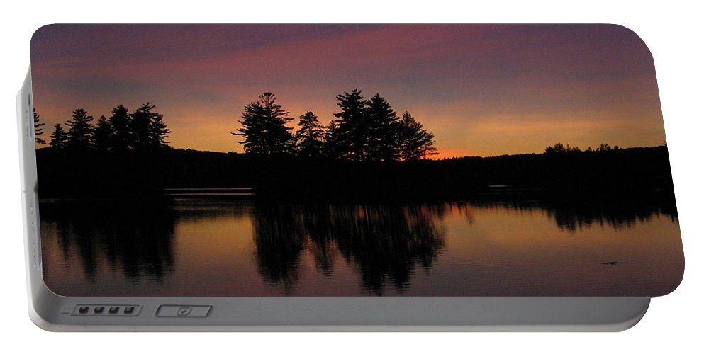 Sunset Portable Battery Charger featuring the photograph Summer Sunset In Nh by Mary Vinagro