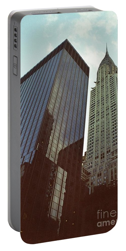 New York Portable Battery Charger featuring the photograph New York Architecture Old And New by Dora Sofia Caputo Photographic Design and Fine Art
