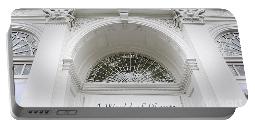 New York Botanical Garden Photograph Portable Battery Charger featuring the photograph New York Botanical Garden Archway Columns Entrance Architecture by Jerry Cowart