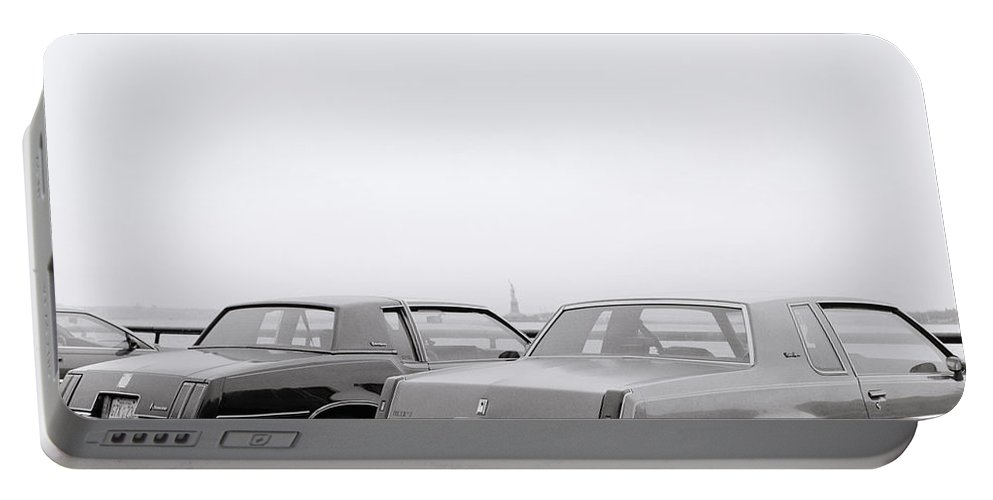American Car Portable Battery Charger featuring the photograph New York Dreams by Shaun Higson