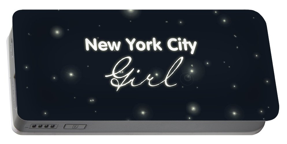 New York City Girl Portable Battery Charger featuring the digital art New York City Girl by Pati Photography
