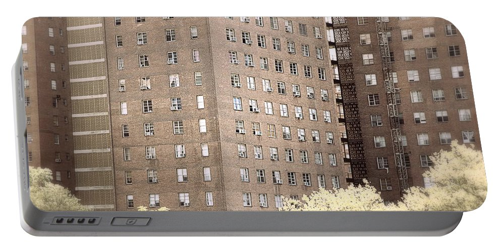 Nyc Portable Battery Charger featuring the photograph New York Public Housing by Valentino Visentini