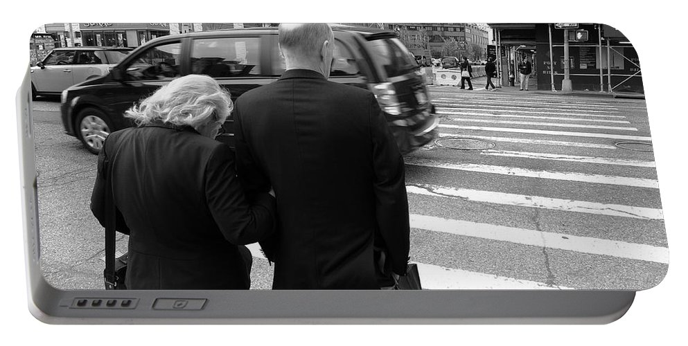 Architecture Portable Battery Charger featuring the photograph New York Street Photography 13 by Frank Romeo