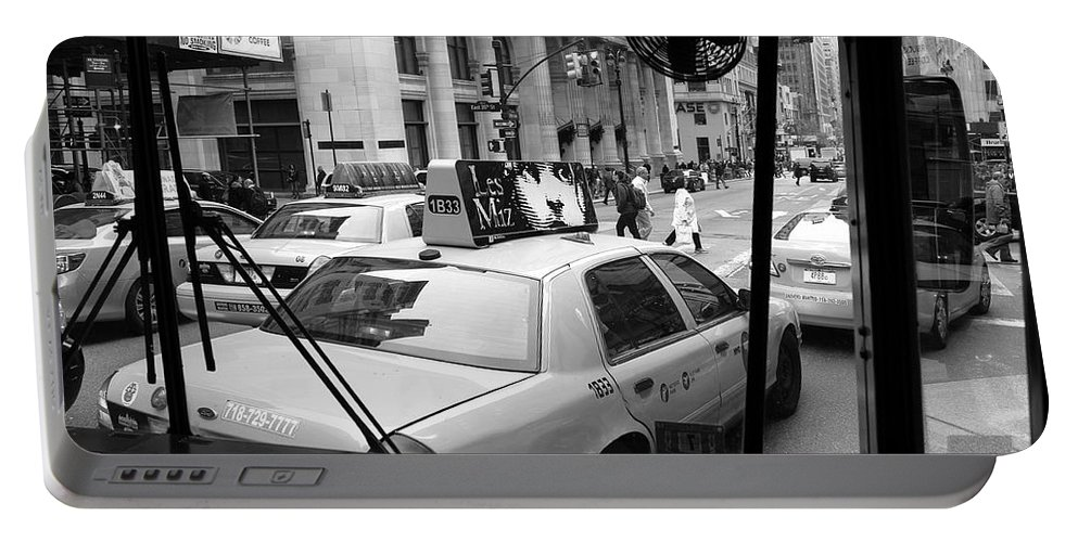 Architecture Portable Battery Charger featuring the photograph New York Street Photography 14 by Frank Romeo