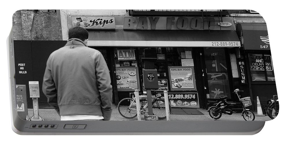 Architecture Portable Battery Charger featuring the photograph New York Street Photography 25 by Frank Romeo