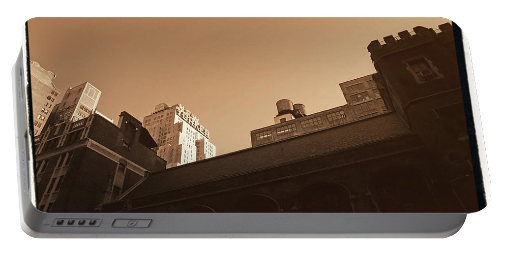 New York Portable Battery Charger featuring the photograph New Yorker by Donna Blackhall