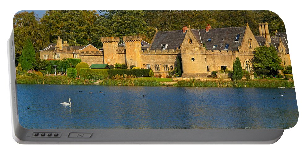 Newstead Abbey Portable Battery Charger featuring the photograph Newstead Abbey Gatehouse by Louise Heusinkveld