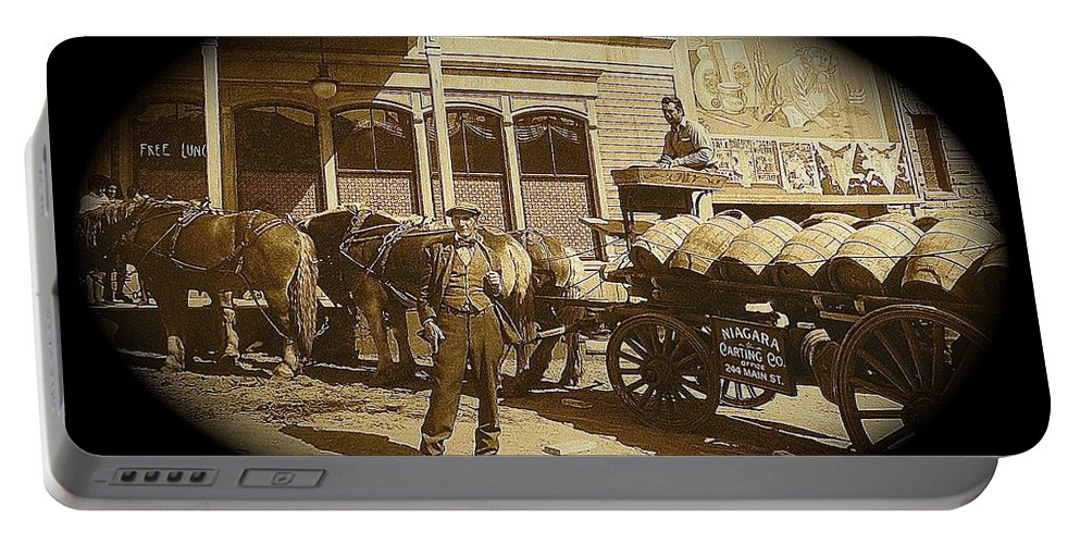 Niagra Carting Wagon Extras The Great White Hope Set Globe Arizona 1969 Portable Battery Charger featuring the photograph Niagra Carting Wagon Extras The Great White Hope Set Globe Arizona 1969-2014 by David Lee Guss